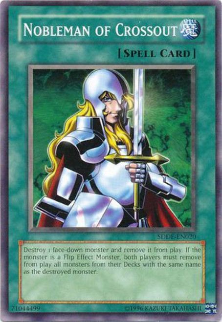YuGiOh GX Trading Card Game The Dark Emperor Common Nobleman of Crossout SDDE-EN020