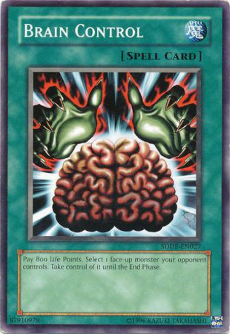 YuGiOh GX Trading Card Game The Dark Emperor Common Brain Control SDDE-EN027