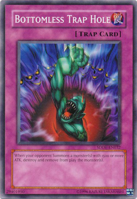 YuGiOh GX Trading Card Game The Dark Emperor Common Bottomless Trap Hole SDDE-EN032