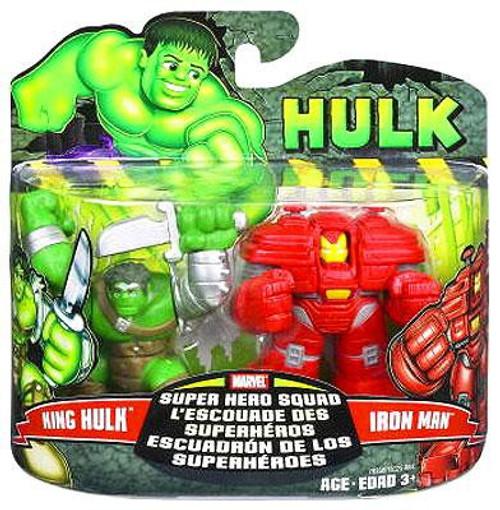 Marvel Super Hero Squad Hulk Movie Series 1 King Hulk & Iron Man 3-Inch Mini Figure 2-Pack
