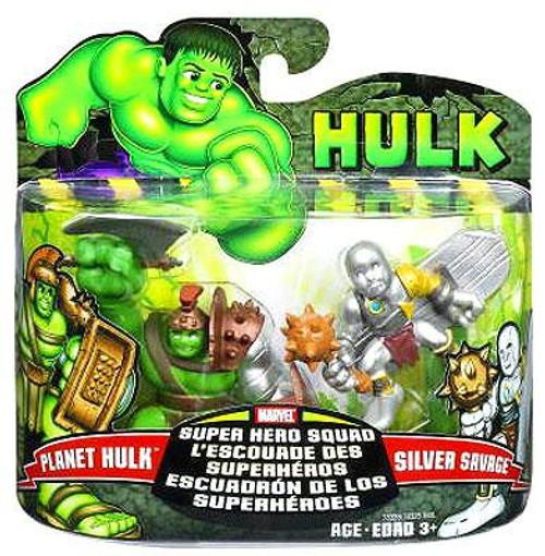 Marvel Super Hero Squad Hulk Movie Series 1 Planet Hulk & Silver Savage 3-Inch Mini Figure 2-Pack