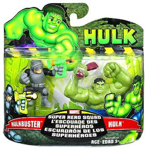 Marvel Super Hero Squad Hulk Movie Series 1 Hulk & Hulkbuster 3-Inch Mini Figure 2-Pack