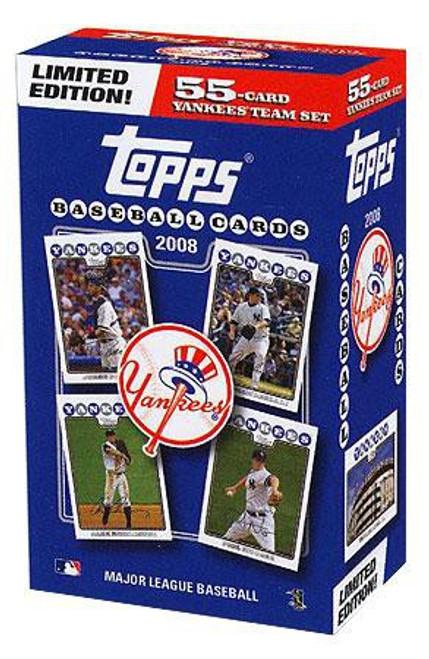MLB 2008 Baseball New York Yankees Trading Card Team Set [Collector's Edition]