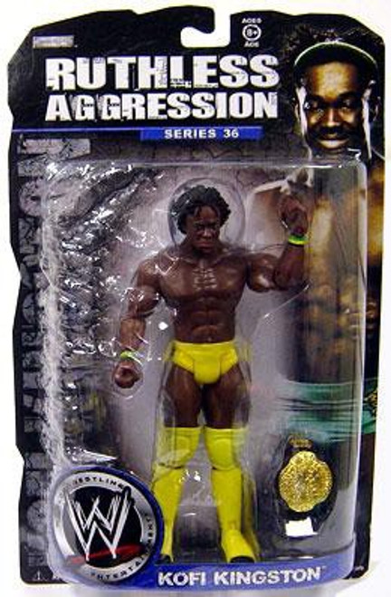 WWE Wrestling Ruthless Aggression Series 36 Kofi Kingston Action Figure