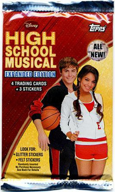 Disney High School Musical Expanded Edition Trading Card Sticker Pack [4 Cards & 3 Stickers!]