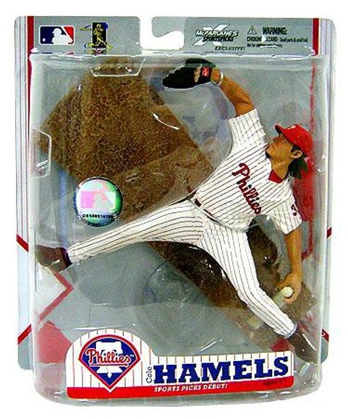 McFarlane Toys MLB Philadelphia Phillies Sports Picks Exclusive Cole Hamels Exclusive Action Figure [Home Pinstripe Jersey]
