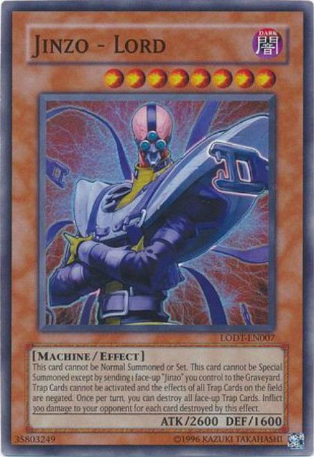 YuGiOh GX Trading Card Game Light of Destruction Super Rare Jinzo - Lord LODT-EN007