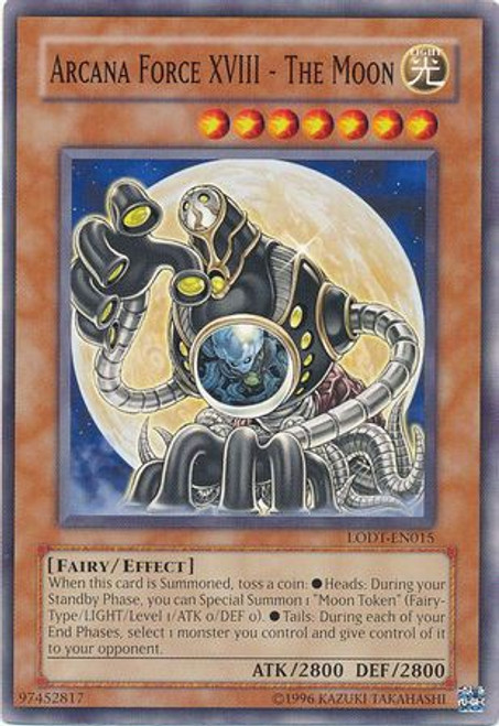 YuGiOh GX Trading Card Game Light of Destruction Common Arcana Force XVIII - The Moon LODT-EN015