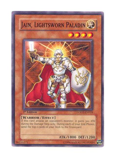 YuGiOh GX Trading Card Game Light of Destruction Common Jain, Lightsworn Paladin LODT-EN018