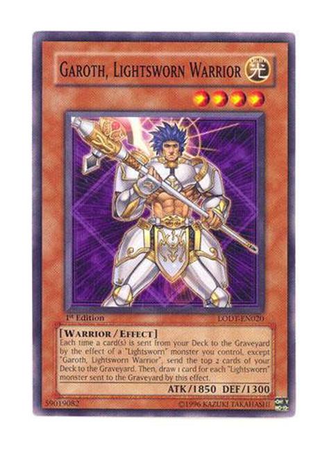 YuGiOh GX Trading Card Game Light of Destruction Common Garoth, Lightsworn Warrior LODT-EN020