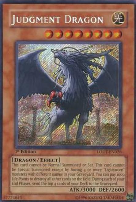 YuGiOh GX Trading Card Game Light of Destruction Secret Rare Judgment Dragon LODT-EN026 [1st Edition]