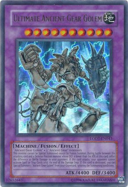 YuGiOh GX Light of Destruction Ultra Rare Ultimate Ancient Gear Golem LODT-EN043