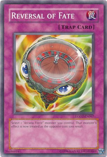 YuGiOh GX Trading Card Game Light of Destruction Common Reversal of Fate LODT-EN067