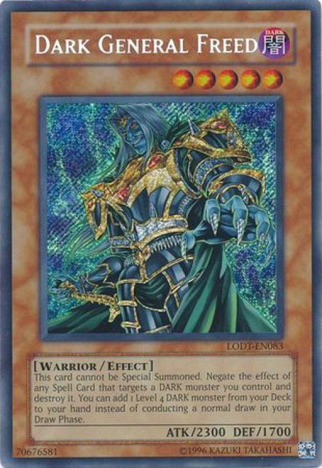 YuGiOh GX Trading Card Game Light of Destruction Secret Rare Dark General Freed LODT-EN083