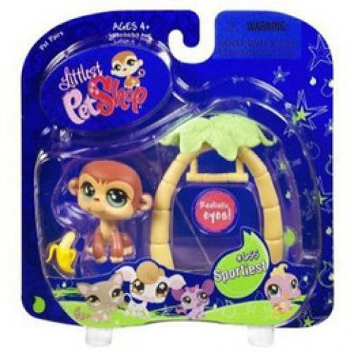 Littlest Pet Shop Pet Pairs Monkey Figure [Swing & Banana]