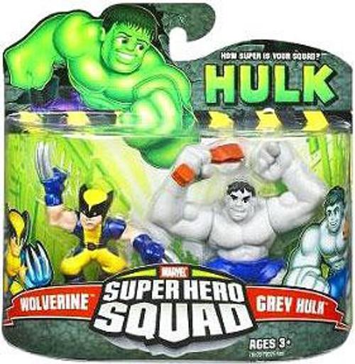 Super Hero Squad Grey Hulk & Wolverine Mini Figure 2-Pack