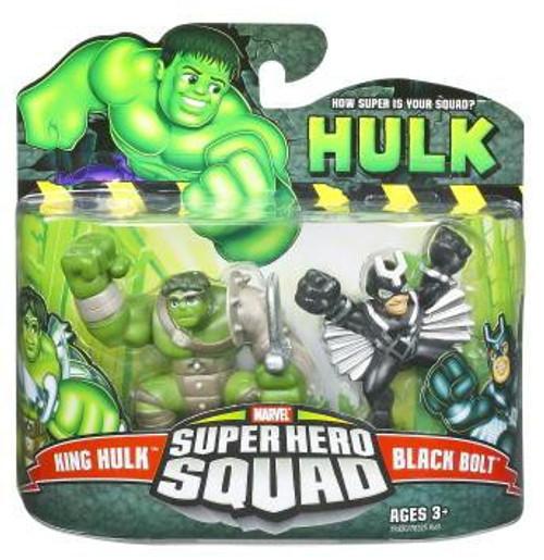 Super Hero Squad King Hulk & Black Bolt Mini Figure 2-Pack