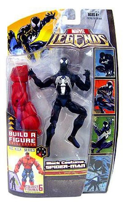 Marvel Legends Red Hulk Series Black Suit Spider-Man Exclusive Action Figure
