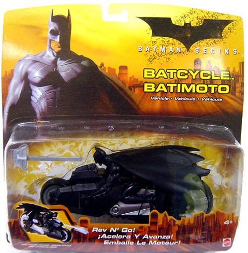 Batman Begins Rev-N-Go Batcycle Vehicle