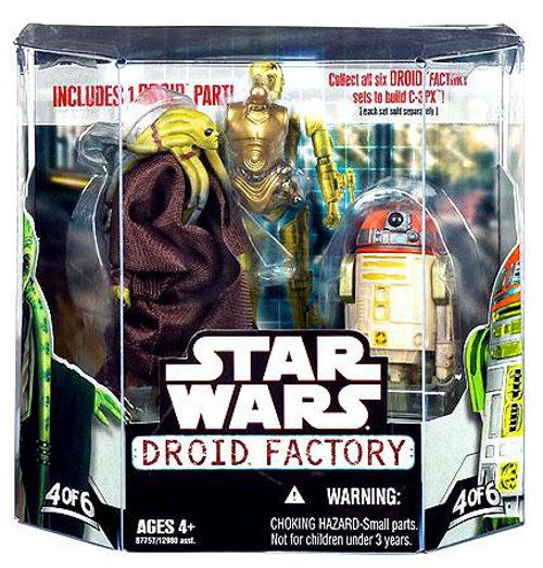 Star Wars The Clone Wars Droid Factory 2008 Kit Fisto & R4-H5 Exclusive Action Figure 2-Pack