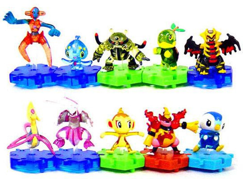 Pokemon Japanese Series 3 Set of 10 Connecting PVC Figures [Translucent]