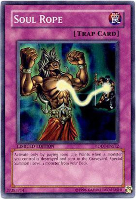 YuGiOh GX Trading Card Game Light of Destruction Special Edition Super Rare Soul Rope LODT-ENSE2