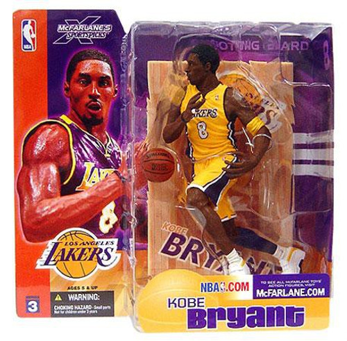 McFarlane Toys NBA Los Angeles Lakers Sports Picks Series 3 Kobe Bryant Action Figure [Yellow Jersey Variant]