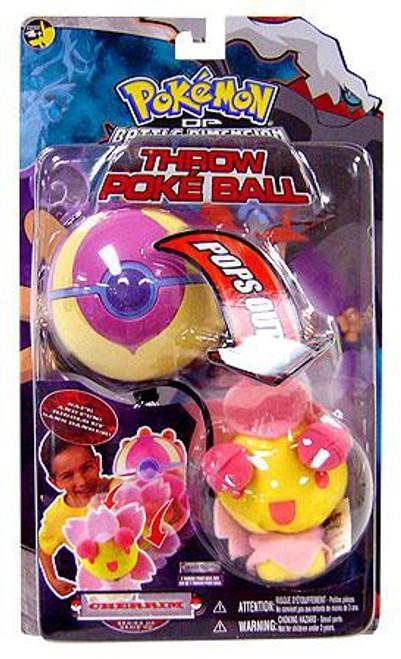 Pokemon Diamond & Pearl DP Series 6 Cherrim Throw Poke Ball Plush