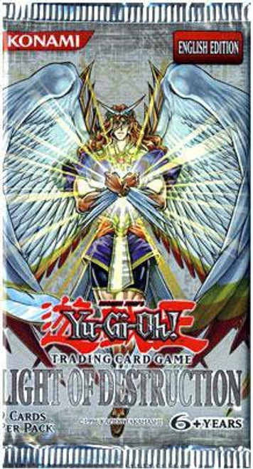 YuGiOh Trading Card Game Light of Destruction Booster Pack