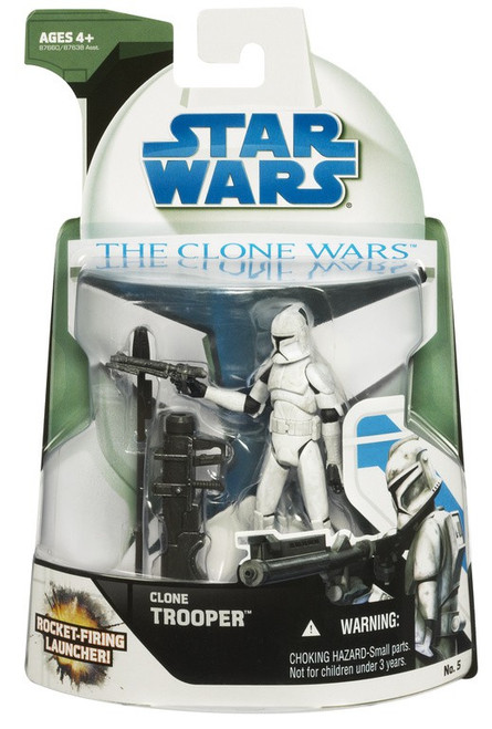 Star Wars The Clone Wars 2008 Clone Trooper Action Figure #5