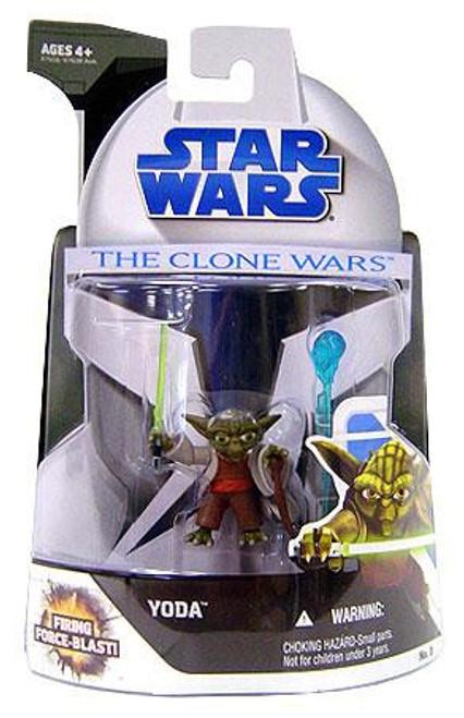 Star Wars The Clone Wars 2008 Yoda Action Figure #3