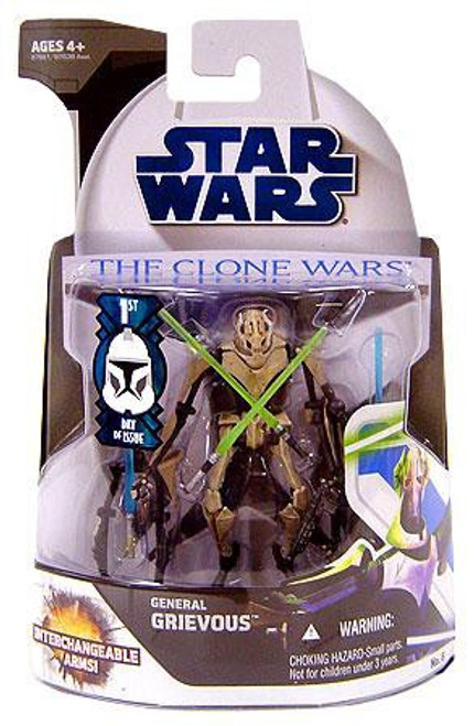 Star Wars The Clone Wars 2008 General Grievous Action Figure #6 [First Day of Issue]
