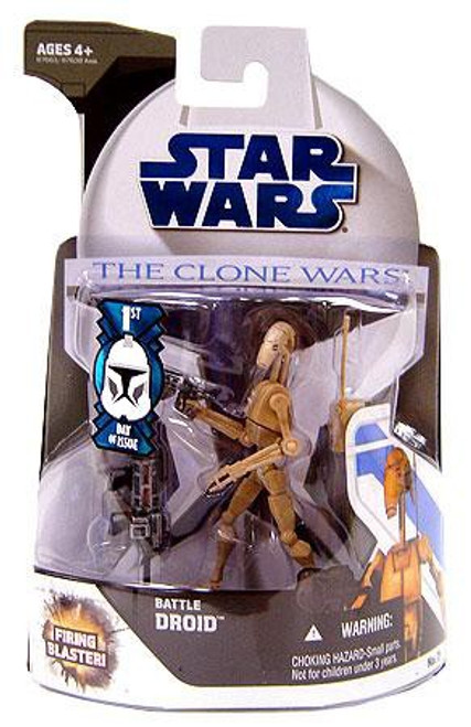 Star Wars The Clone Wars 2008 Battle Droid Action Figure #7 [First Day of Issue]