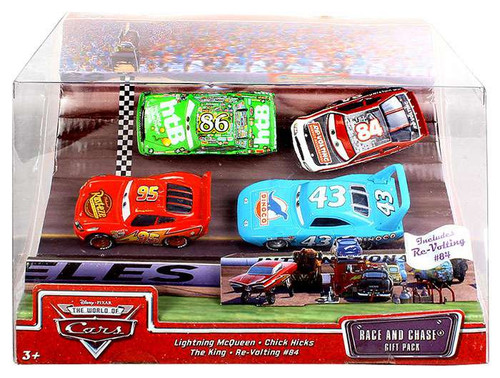 Disney / Pixar Cars The World of Cars Multi-Packs Race and Chase 4-Pack Diecast Car Set