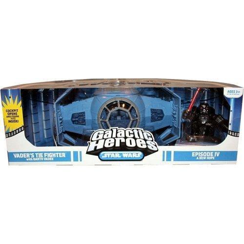 Star Wars A New Hope Galactic Heroes Cinema Scenes Vader's Tie Fighter Mini Figure Set