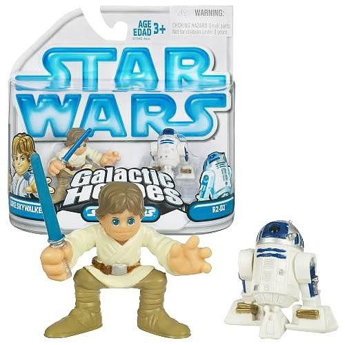 Star Wars A New Hope Galactic Heroes 2008 Luke Skywalker & R2-D2 Mini Figure 2-Pack