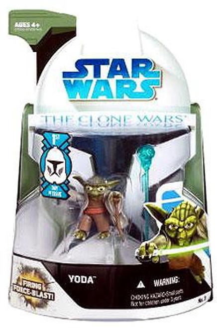Star Wars The Clone Wars 2008 Yoda Action Figure #3 [First Day of Issue]