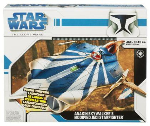 Star Wars The Clone Wars 2008 Anakin Skywalker's Modified Jedi Starfighter Action Figure Vehicle