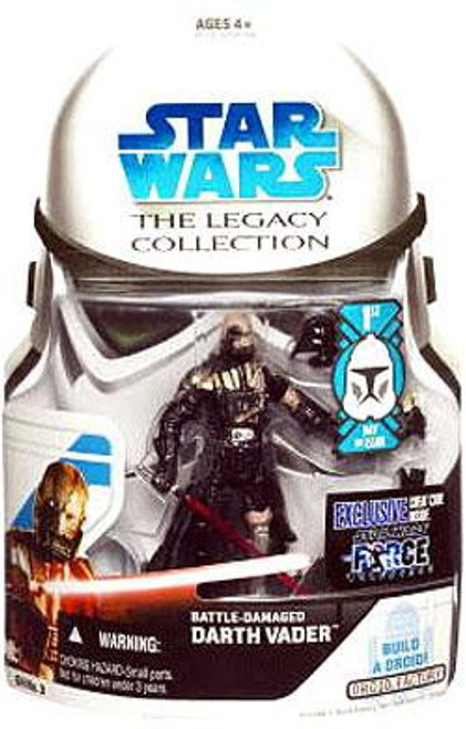 Star Wars Force Unleashed 2008 Legacy Collection Droid Factory Battle Damaged Darth Vader Action Figure GH03 [First Day of Issue]