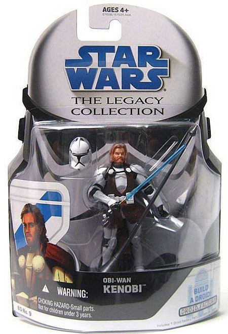 Star Wars The Clone Wars 2008 Legacy Collection Droid Factory Obi-Wan Kenobi Action Figure BD09 [General's Armor]