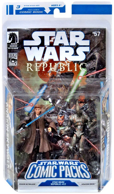 Star Wars Expanded Universe 2009 Comic Packs Anakin Skywalker & Assassin Droid Action Figure 2-Pack #57