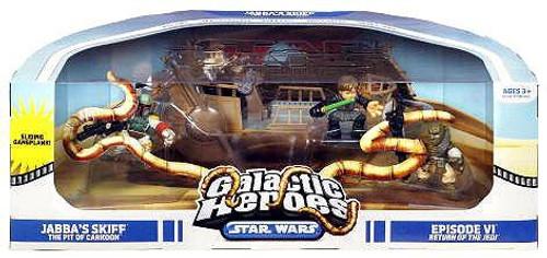 Star Wars Return of the Jedi Galactic Heroes Cinema Scenes Jabba's Skiff Mini Figure Set [The Pit of Carkoon]
