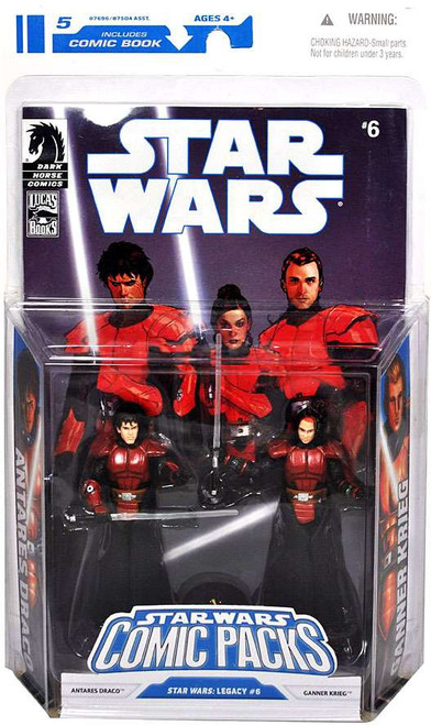 Star Wars Expanded Universe 2009 Comic Packs Antares Draco & Ganner Krieg Action Figure 2-Pack #6