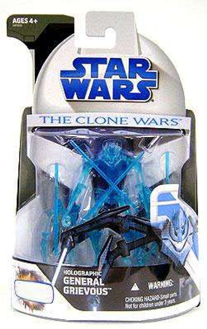 Star Wars The Clone Wars 2008 Holographic General Grievous Exclusive Action Figure