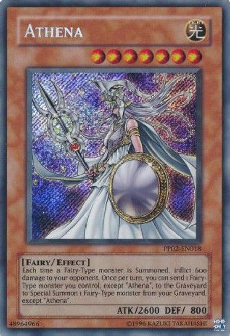 YuGiOh GX Trading Card Game Premium Pack 2 Secret Rare Athena PP02-EN018