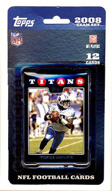 NFL 2008 Topps Football Cards Tennessee Titans Team Set