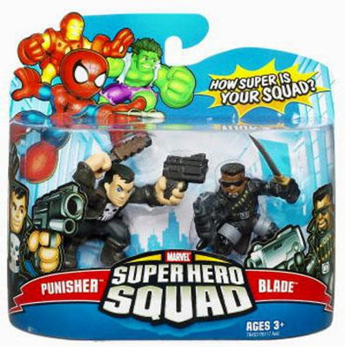 Marvel Super Hero Squad Series 9 Punisher & Blade 3-Inch Mini Figure 2-Pack