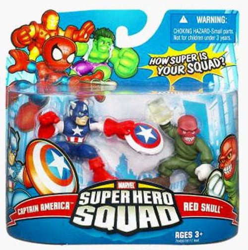Marvel Super Hero Squad Series 9 Captain America & Red Skull 3-Inch Mini Figure 2-Pack