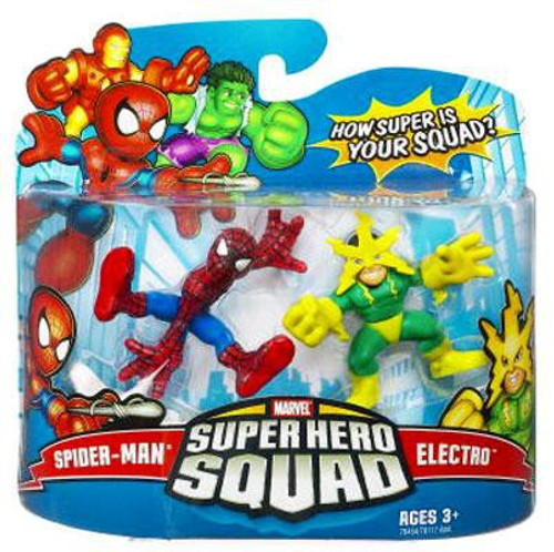 Marvel Super Hero Squad Series 9 Spider-Man & Electro 3-Inch Mini Figure 2-Pack