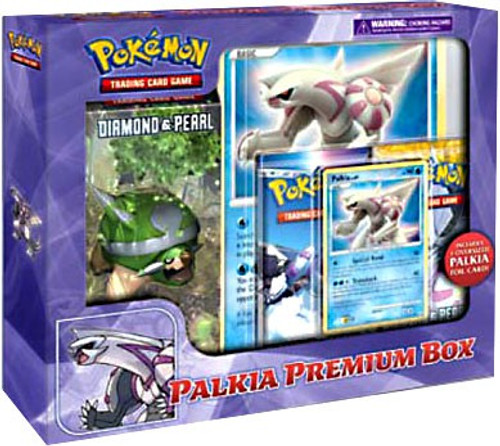Pokemon Trading Card Game Diamond & Pearl Palkia Premium Box [2 Booster Packs, Deck, Promo Card & Oversized Card!]